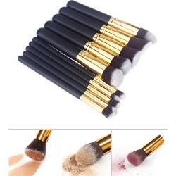 10st Professionella Sminkborstar för Makeup