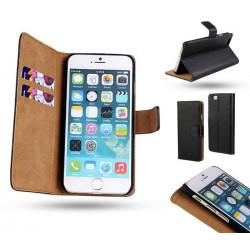 iPhone 6 / 6S - Plånboksfodral i Äkta läder