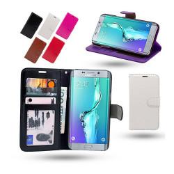 Fodral / Plånbok i Läder - Samsung Galaxy S6 Edge Plus