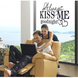 Wall Sticker - Always Kiss...