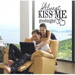 Väggdekor - Always Kiss Me Goodnight