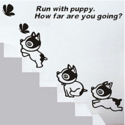 Wall Sticker - Run With Puppy