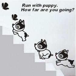 Wall Sticker - Run With Puppy