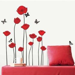 Väggdekor - Blommor & Fjärilar