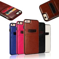 iPhone 6 / 6S - Smidigt Plånboksskal / Fodral i läder