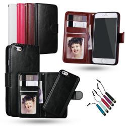 iPhone 6 / 6S - Plånboksfodral / Magnet Skal + Touchpenna