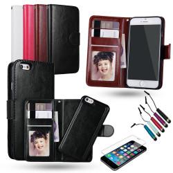iPhone 7/8 - Plånboksfodral / Magnet Skal + 3 i 1 Paket