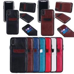 iPhone X - Smidigt Plånboksskal / Fodral i läder