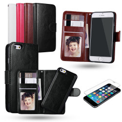 iPhone 7+/8 Plus - Plånboksfodral / Magnet Skal + Skärmskydd