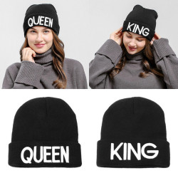 Couple King And Queen Winter Embroidered Cap