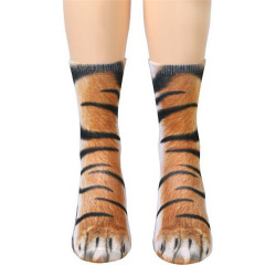 Women Men Adult Unisex Animal Paw Socks