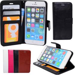 iPhone 6 / 6S - Plånboksfodral i läder + 3 i 1 Kit