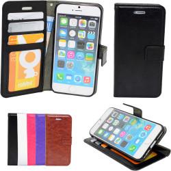 iPhone 7+/8 Plus - Plånboksfodral i Läder