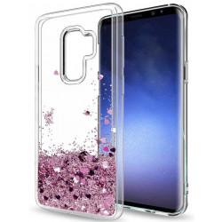 Galaxy S9 - Flytande Glitter 3D Bling Skal Case