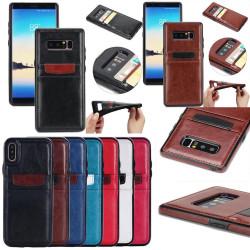 Samsung Galaxy S8 - Smidigt Plånboksskal / Fodral i läder
