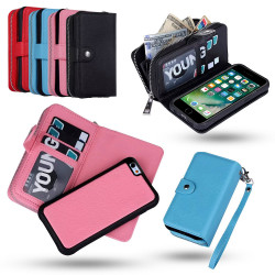 iPhone 6 / 6S - Wallet Case & Magnet Case with Zip