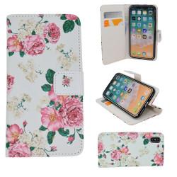 """iPhone X - Plånboksfodral - """"Rosor"""""""