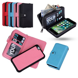 iPhone 7+/8 Plus - Läder Fodral & Magnetskal