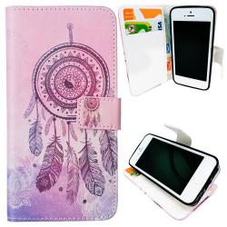 iPhone 5/5s/SE-Fodral/Plånbok Läder - Drömfångare