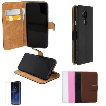 LG G7 ThinQ - Läderfodral / Skydd