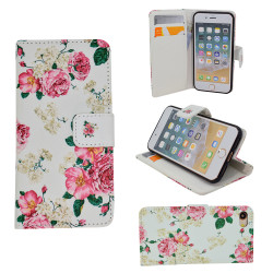 iPhone 5/5s/SE Leather Case Wallet - Flowers