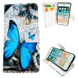 iPhone 5/5s/SE-Fodral/Plånbok Läder - Fjäril