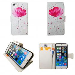 """iPhone 7/8 - Plånboksfodral - """"Blommor"""""""