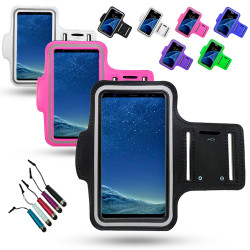 Samsung Galaxy A7 2018 - Waterproof PU Leather Sport Arm Band Case