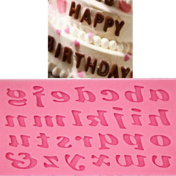Silicone 26 Lowercase Alphabet Letters Mold Fondant Mat Cake Mould Tool