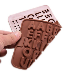 Cake Soap Fondant Chocolate Silicone Alphabet Mold
