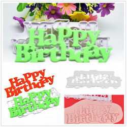 Happy Birthday Mold Cutters Fondant Cake Decorating