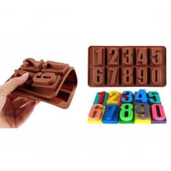 Choklad / Fondant form för bakning - Nummer