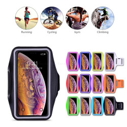 iPhone Xs Max - Waterproof PU Leather Sport Arm Band Case