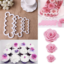 3D Cake Rose Flower Cutter Mold Fondant Icing Decor Mould