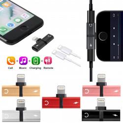 iPhone XR/Xs Max/XS/X/8/7 Dual/Dubbelingång Adapter
