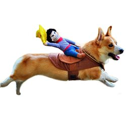 Cute Pet Dog Halloween Cowboy Funny Soft Costume Dog Riders