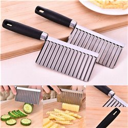 Stainless Steel Potato Wavy Cutter Chopper