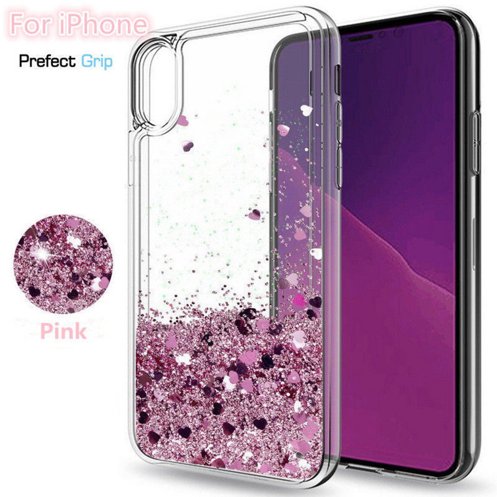 iPhone X - Moving Glitter 3D Bling Phone Case