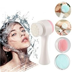 Double-sided Face Cleansing Brush Soft Silicone Facial Pore Cleaning
