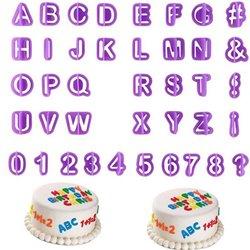 40pcs Alphabet Number Letter Fondant Cake Decoration Set