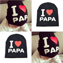 I Love PAPA Pattern Toddler Kids Baby Boys Girls Cotton Hat