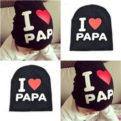 I Love PAPA Pattern Toddler Kids Baby Boys Girls Cotton Hat
