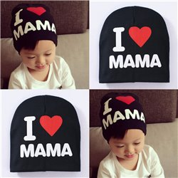 I Love MAMA Pattern Toddler Kids Baby Boys Girls Cotton Hat