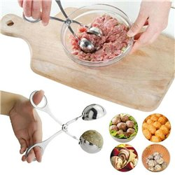 Stainless Steel Meatball Scoop Meat Baller Dough Melon Ice Cream