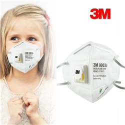 3M 9003V Barnstorlek Munskydd Ansiktsmask Andningsskydd N90