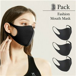 3-Pack Washable Protective Face Mask Filtration