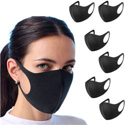 6-Pack Washable Protective Face Mask Filtration