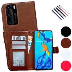 Huawei P40 - PU Leather Wallet Case