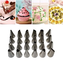 24pcs Cake Decorating Kit Tools Set Pastry Icing Nozzles