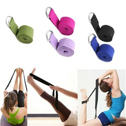 Adjustable Belt Yoga Strap Figure Waist Leg Fitness Gym Sports Exercise